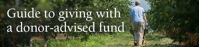 Guide to giving with a donor-advised fund