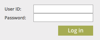 Image of our donor login blog, requesting user ID and password.