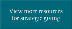 Strategic giving resource center
