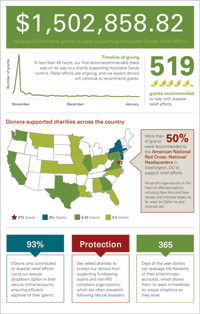 Hurricane Sandy Relief Infographic
